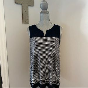 Sleeveless tunic knit top silky feel with stretch